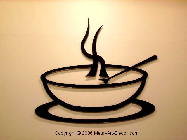 soup bowl restaurant modern wall art decor