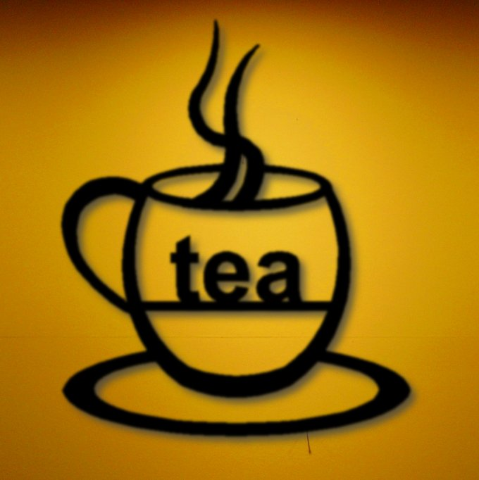 Tea Cup Modern Wall Art Decor Silhouette